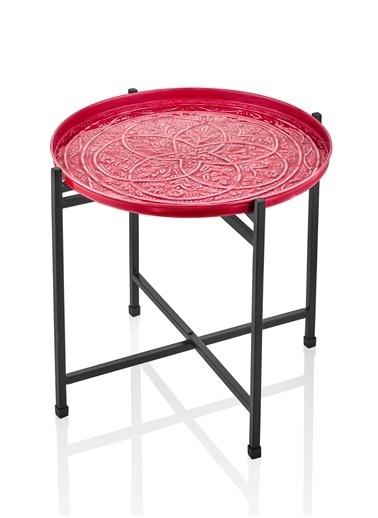 The Mia Duggal Sehpa 43 x 43 Cm - Kırmızı Kırmızı